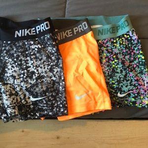Nike pro shorts bundle